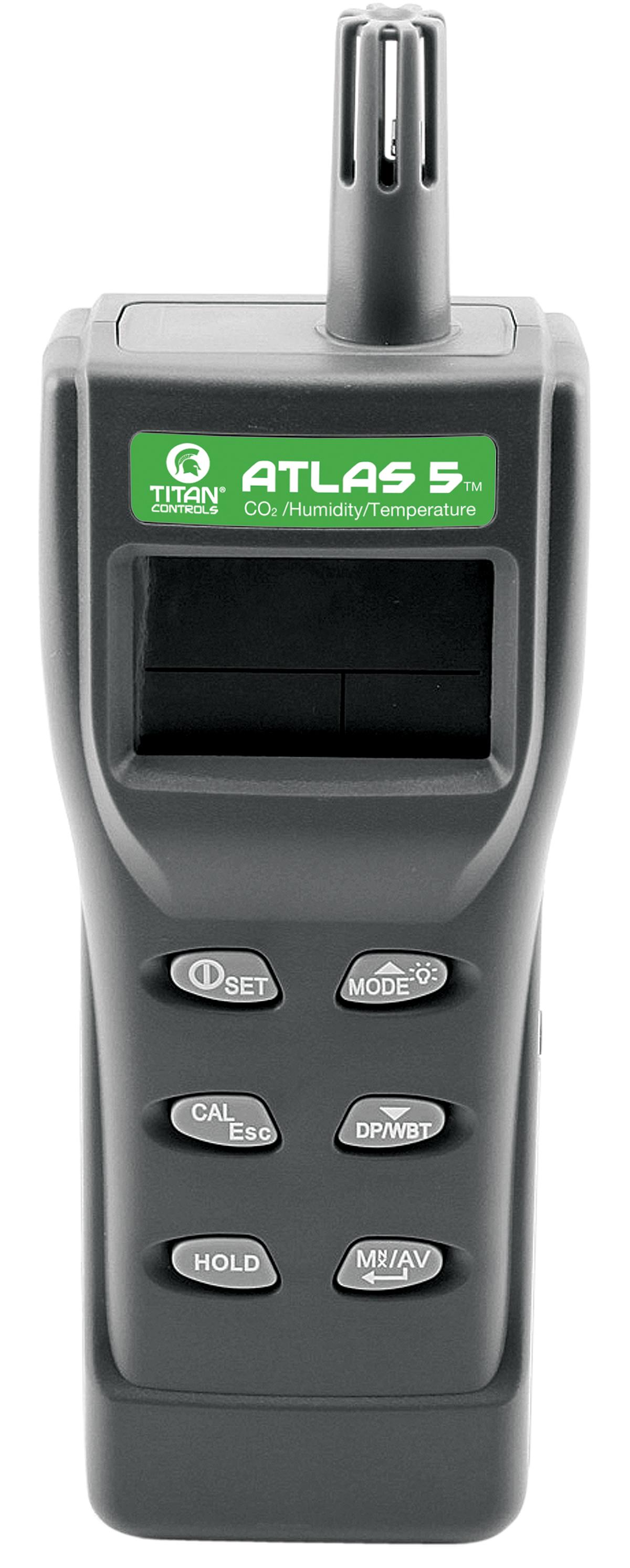 Titan Controls Atlas 5 - Portable Handheld CO2 Temperature/Humidity Monitor